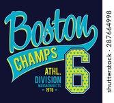 athletic sport boston... | Shutterstock .eps vector #287664998