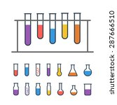 chemical test tube rack with... | Shutterstock .eps vector #287666510