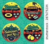vintage summer labels...   Shutterstock .eps vector #287675234