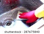 cleaning sink | Shutterstock . vector #287675840