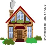 vector flat country house... | Shutterstock .eps vector #287677379