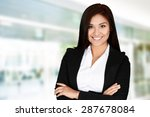 business woman at the office... | Shutterstock . vector #287678084