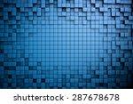 field of blue 3d cubes. 3d... | Shutterstock . vector #287678678