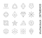 set of hipster icons  geometric ... | Shutterstock .eps vector #287680433