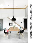modern dining room with dining... | Shutterstock . vector #287681390