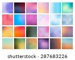 big set of vector blurred... | Shutterstock .eps vector #287683226