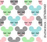 seamless pattern with smiling... | Shutterstock .eps vector #287686460