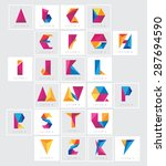 colorful low polygon alphabet... | Shutterstock .eps vector #287694590