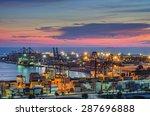 container cargo freight ship... | Shutterstock . vector #287696888