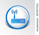 vector wireless router icon... | Shutterstock .eps vector #287697923