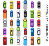 multicolored car collection... | Shutterstock . vector #287701130