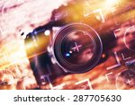 photography camera lens glass... | Shutterstock . vector #287705630