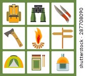 vector icons on the theme of... | Shutterstock .eps vector #287708090