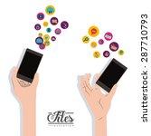 files design over white... | Shutterstock .eps vector #287710793