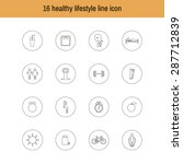 a set of liner icons isolated... | Shutterstock . vector #287712839