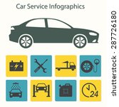 car service infographics. auto... | Shutterstock .eps vector #287726180