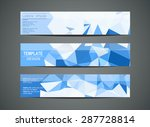 blue horizontal banners   with... | Shutterstock .eps vector #287728814