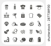 food icons set | Shutterstock .eps vector #287738930
