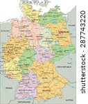germany   highly detailed... | Shutterstock .eps vector #287743220