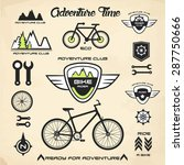 bicycling  signs and symbols ... | Shutterstock .eps vector #287750666
