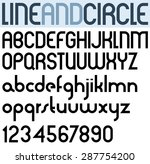 poster thin circle black font... | Shutterstock .eps vector #287754200
