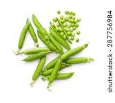 Fresh Green Peas On White...