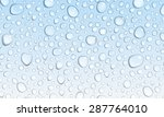 background of water droplets on ... | Shutterstock .eps vector #287764010