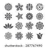 flower icons   Shutterstock .eps vector #287767490