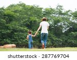 mother and daughter playing in... | Shutterstock . vector #287769704