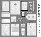 corporate identity template set.... | Shutterstock .eps vector #287772758