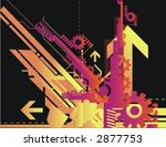 technical halftone background... | Shutterstock .eps vector #2877753