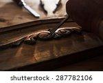 the hands of an carpenter... | Shutterstock . vector #287782106