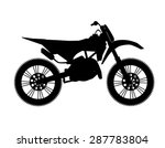 motocross bike silhouette   Shutterstock .eps vector #287783804