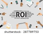 vector roi concept template | Shutterstock .eps vector #287789753