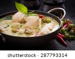 green chicken curry thai cuisine | Shutterstock . vector #287793314