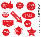 red shopping labels for e shop. ... | Shutterstock .eps vector #287793560