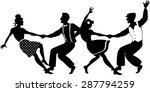 vector silhouette of two young... | Shutterstock .eps vector #287794259