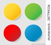 set stickers | Shutterstock .eps vector #287799236