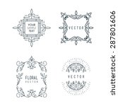 set of minimal line art... | Shutterstock .eps vector #287801606