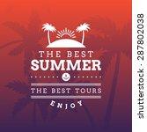 retro summer holidays vintage... | Shutterstock .eps vector #287802038