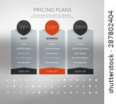 vector pricing table in flat... | Shutterstock .eps vector #287802404