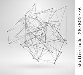 wire frame polygonal element.... | Shutterstock .eps vector #287805776