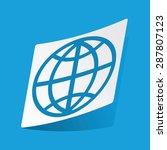 sticker with globe icon ...