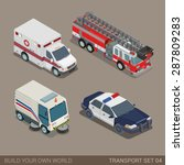 flat 3d isometric high quality... | Shutterstock .eps vector #287809283