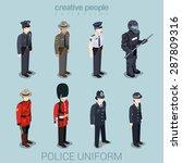 police officer commander patrol ... | Shutterstock .eps vector #287809316