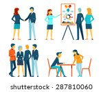 business people in different... | Shutterstock .eps vector #287810060