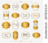 collection of golden premium... | Shutterstock .eps vector #287810114