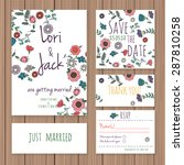 wedding invitation card set.... | Shutterstock .eps vector #287810258