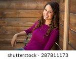 single girl dating profile... | Shutterstock . vector #287811173