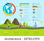 cycling infographics with... | Shutterstock .eps vector #287811593